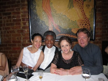 Lia Chang, Andre De Shields, Merle Frimark and Jean-Claude Baker at Chez Josephine. Photo by Lia Chang