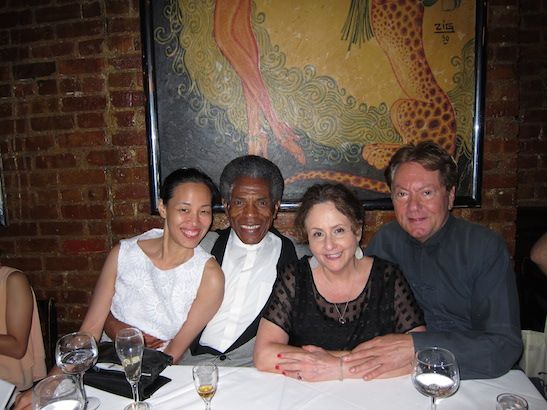 Lia Chang, André De Shields, Merle Frimark and Jean-Claude Baker at Chez Josephine. Photo by Lia Chang