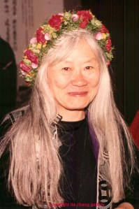 Author Maxine Hong Kingston at Berkeley Rep after the opening night performance of 'The Women Warrior' in 1994. Photo by Lia Chang