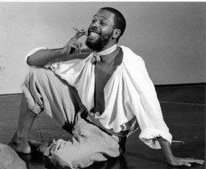 Meshach Taylor in the Goodman Theatre's production of Huck Finn (c. 1976). Photo courtesy of the Goodman Theatre Archives