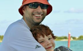 Frank Lyman with his son Thomas
