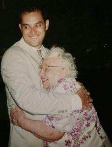 Frank Lyman with his grandmother Rachel