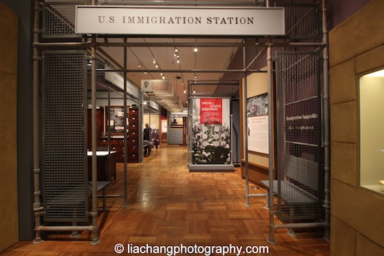 A recreated immigration station that evokes the experience of the barracks, inspector's office, and hospital common to immigration stations like Angel Island in San Francisco Bay (1910-40). Photo by Lia Chang