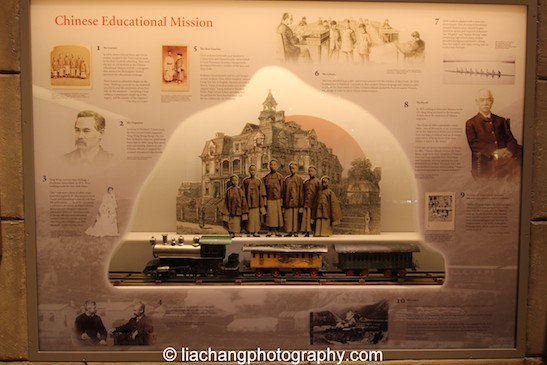 The Chinese Educational Mission. Eugene Beggs, Live-steam locomotive train set, pre-1890. Tin, brass, wood, and paper. New-York Historical Society, The Jerni Collection. Photo by Lia  Chang