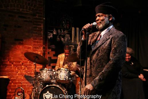 Rome Neal in performance at the Nuyorican Poets Cafe in March 2014. Photo by Lia Chang