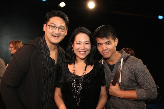 Tim Huang, Christine Toy Johnson and Telly Leung. Photo by Lia chang