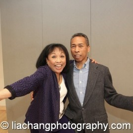 2014 Paul Robeson Citation Award recipient Baayork Lee with her brother Auchee Lee at the Actors Equity Association in New York on October 10, 2014. Photo by Lia Chang