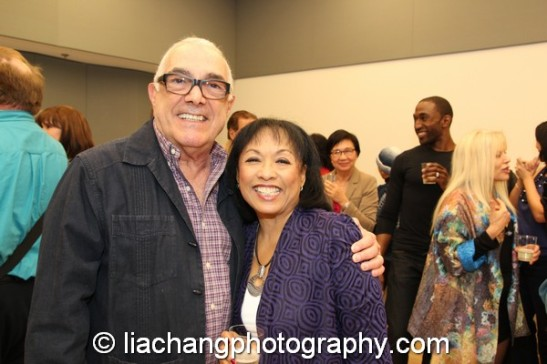 2014 Paul Robeson Citation Award recipient Baayork Lee with Bob Avian, original co-choreographer of A Chorus Line at the Actors Equity Association in New York on October 10, 2014. Photo by Lia Chang