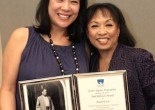 Christine Toy Johnson presented Baayork Lee with the 2014 Paul Robeson Citation Award presented by the Actors' Equity Foundation in the council room of the Actors Equity Association on October 10, 2014. Photo by Lia Chang