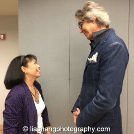 Tommy Tune congratulates 2014 Paul Robeson Citation Award recipient Baayork Lee at the Actors Equity Association in New York on October 10, 2014. Photo by Lia Chang