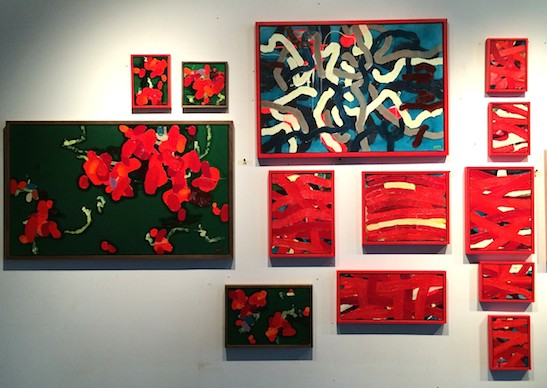 New work by Arlan Huang on view during Gowanus Open Studio though October 19, 2014. Photo by Lia Chang