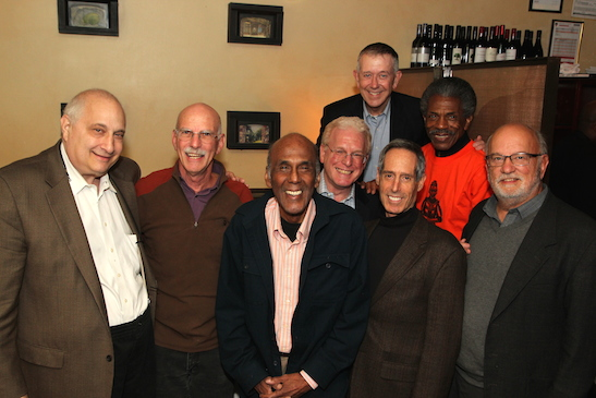 Front: Dan Borinsky, Dick Cluster, Mike Moore, John Borden, Ed Friedel, Jack Anderson Back: Tom Risser, André De Shields. Photo by Lia Chang
