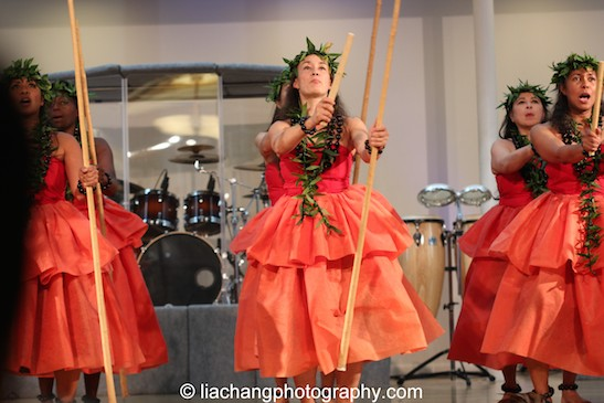 Hula performance tribute for Yuri Kochiyama by Pua Ali'i 'llima o Nuioka. Photo by Lia Chang