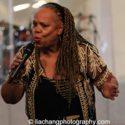 Janice Robinson performs Angel of the Night for Yuri Kochiyama. Photo by Lia Chang
