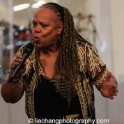 Janice Robinson performs Angel of the Night for Yuri Kochiyama. Photo by Lia Chang