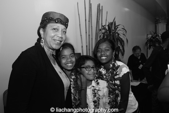Ambassador Attalah Shabazz and Yuri Kochiyama's great grandchildren at Yuri Kochiyama Memorial at First Corinthian Church in New York on September 27, 2014. Photo by Lia Chang