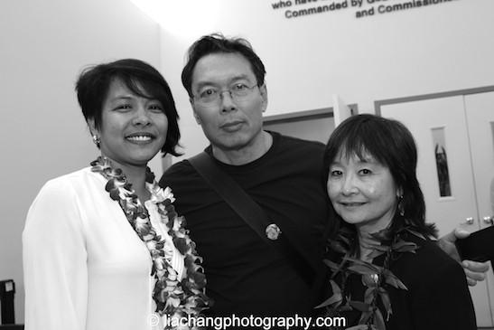 Akemi Kochiyama, John Kuo Wei Tchen and Audee Kochiyama-Holman. Photo by Lia Chang