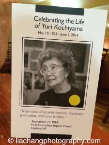 A Program from Yuri Kochiyama's memorial in New York on September 27, 2014. Photo by Lia Chang