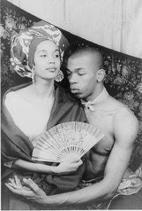 Holder with wife Carmen de Lavallade. photo by Carl Van Vechten, 1955