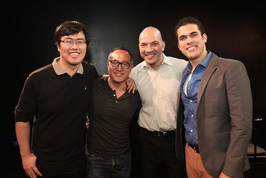Yan Li, Alan Muraoka, Chris Vasquez and Joel Perez. Photo by Lia Chang