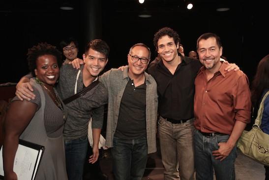 Q. Smith, Telly Leung, Alan Muraoka, Adam Jacobs and Alan Muraoka. Photo by Lia Chang