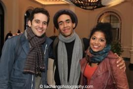 Adam Chanler-Berat, Kyle Beltran and Rebecca Naomi Jones. Photo by Lia Chang