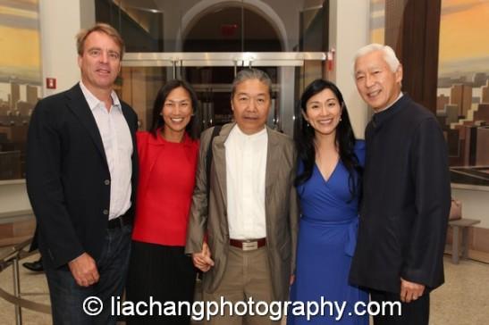 Andy Darrell, Dana Tang, Yang Chihung, Dr. Agnes Hsu-Tang and her husband Oscar Tang at the New-York Historical Society in New York on October 2, 2014. Photo by Lia Chang