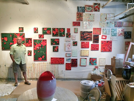 Arlan Huang in his Brooklyn Studio during the Arts Gowanus Open Studio on October 18, 2014. Photo by Lia Chang