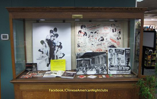 Arthur Dong's collection of memorabilia from the Chinese American nightclub era is on display at the South Pasadena Library throughout October. Photo courtesy of Arthur Dong