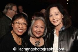 Baayork Lee, Virginia Wing and Nancy Kwan at the New York Historical Society in New York on October 15, 2014. Photo by Lia Chang