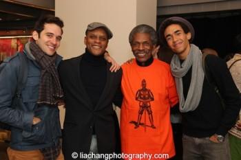 Adam Chanler-Berat, Kevin Mambo, André De Shields, Kyle Beltran. Photo by Lia Chang