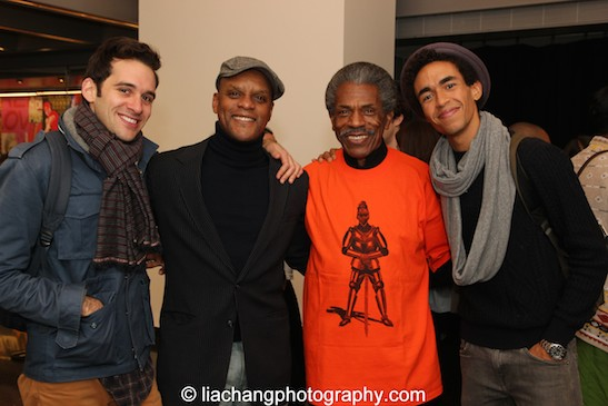 Adam Chanler-Berat, Kevin Mambo, André De Shields, Kyle Beltran. Photo by Lia Chang