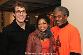 THE FORTRESS OF SOLITUDE castmembers Conor Ryan, Rebecca Naomi Jones and André De Shields. Photo by Lia Chang