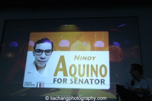 Conrad Ricamora as Ninoy Aquino in Here Lies Love. Photo by Lia Chang