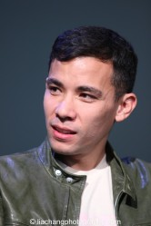 Conrad Ricamora at the Here Lies Love Apple Store Soho Event in New York on October 25, 2014. Photo by Lia Chang