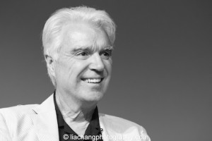 David Byrne at the Here Lies Love event at the Apple Store Soho in New York on October 25, 2014. Photo by Lia Chang