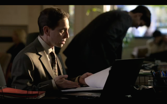 Garth Kravits as a loan officer on The Blacklist. Photo by Lia Chang