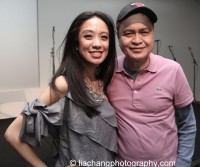 Jaygee Macapugay and her father Jaime Macpugay at the Here Lies Love Apple Store Soho Event in New York on October 25, 2014. Photo by Lia Chang