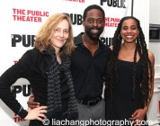Jo Bonney, Sterling K. Brown and Suzan-Lori Parks. Photo by Lia Chang