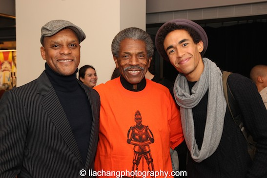 The Rude Dynasty- Kevin Mambo, André De Shields and Kyle Beltran. Photo by Lia Chang