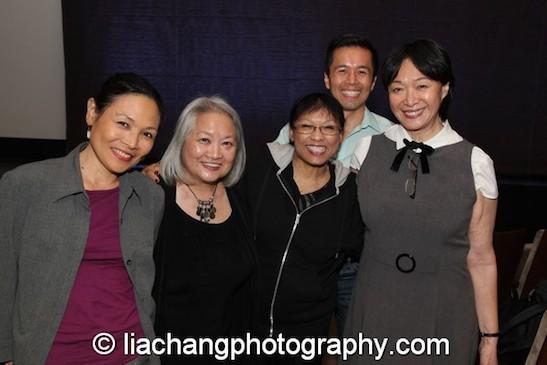 Lydia Gaston, Virginia Wing, Baayork Lee, Steven Eng and Pan Asian Rep's artistic director Tisa Chang at the New York Historical Society on October 15, 2014. Photo by Lia Chang