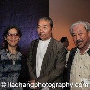 Nina Kuo, Yang Chihung and Bob Lee at the New-York Historical Society in New York on October 2, 2014. Photo by Lia Chang