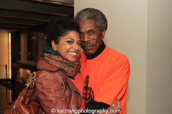 THE FORTRESS OF SOLITUDE cast members Rebecca Naomi Jones and André De Shields. Photo by Lia Chang