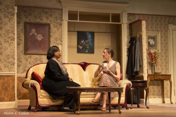 "Scottie Mills and Nicola d'Alessandro in ""Maid's Door,"" at The Billie Holiday Theatre. Photo: Helen L. Collen"