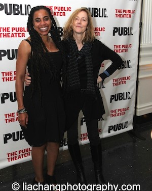 Father Comes Home From The Wars playwright Suzan-Lori Parks and director Jo Bonney. Photo by Lia Chang