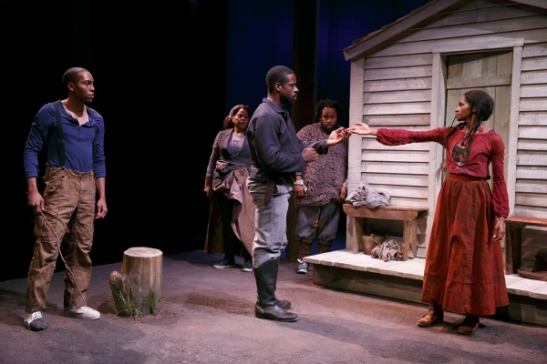 Jeremie Harris, Tonye Patano, Sterling K. Brown, Jacob Ming-Trent, and Jenny Jules. Photo by Joan Marcus