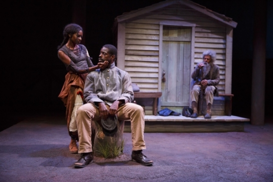 Jenny Jules, Sterling K. Brown, and Peter Jay Fernandez. Photo by Joan Marcus