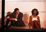 Biko Eisen-Martin and MaameYaa Boafo in Crossroads' production of Walter Mosley's LIFT. Photo by Carol Rosegg.