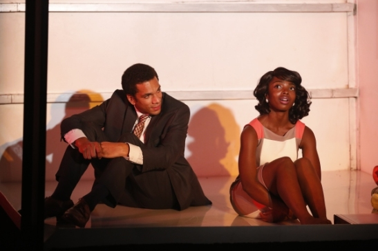 Biko Eisen-Martin and MaameYaa Boafo in Crossroads' production of Walter Mosley's LIFT. Photo by Carol Rosegg.