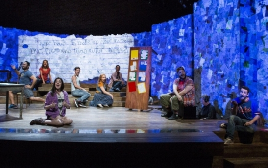 The cast of Atlantic Theater Company's Found. Photo by Kevin Thomas Garcia